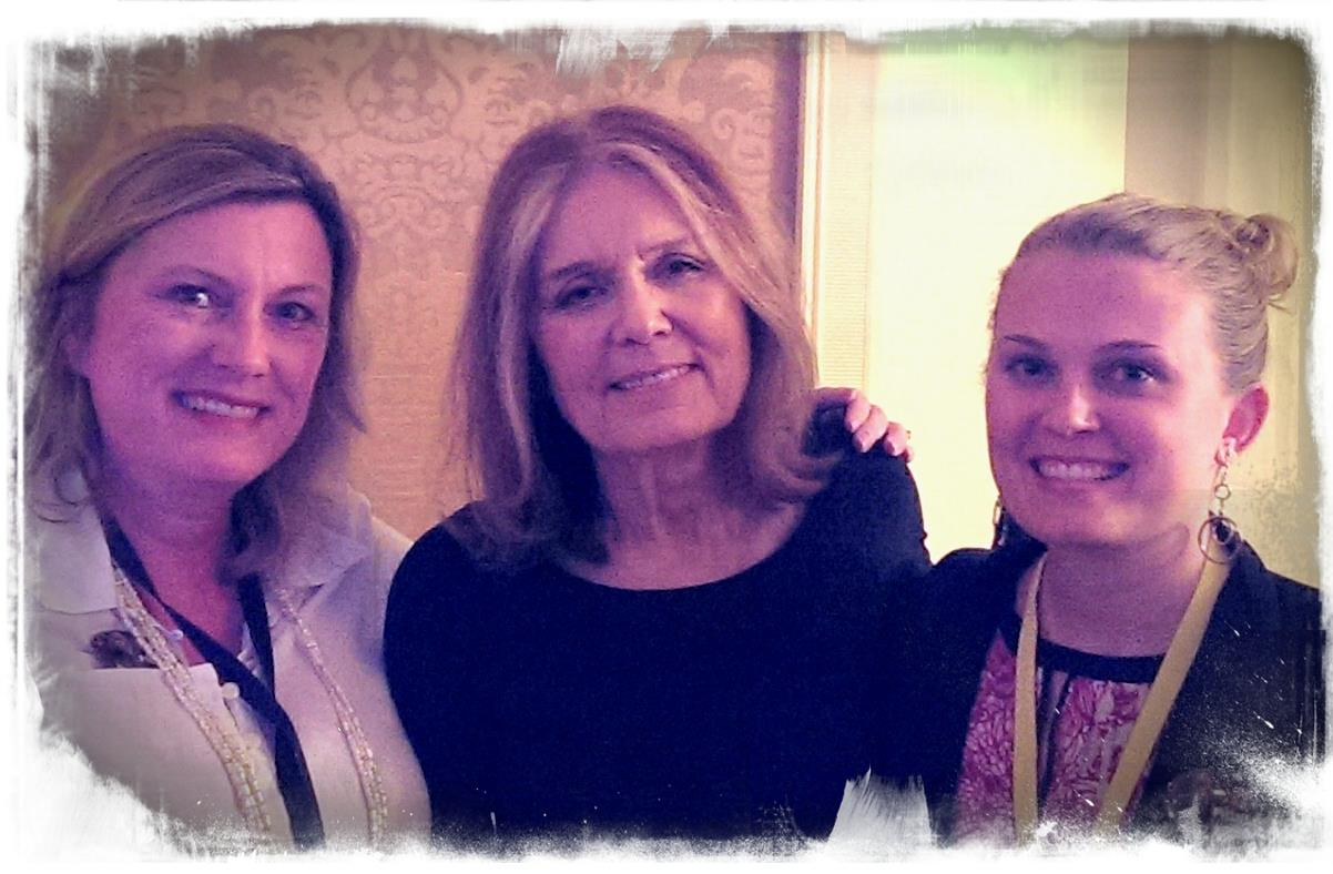 meeting Gloria Steinem at the White House